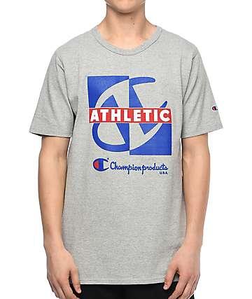 Champion Heritage Crisscross camiseta gris