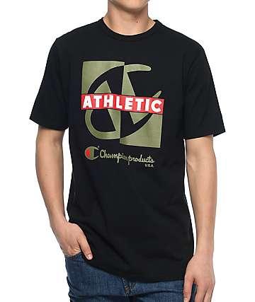 Champion Heritage Crisscross camiseta negra