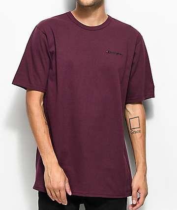 Champion Heritage Embroidered Script camiseta en color borgoño