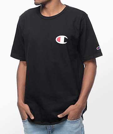 Champion Heritage Patriotic C Black T-Shirt