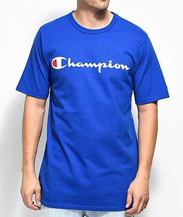 Champion Heritage Script camiseta azul