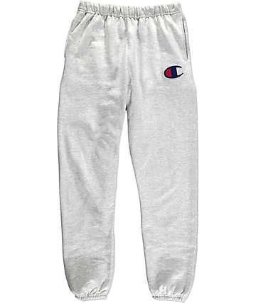 Champion Large C Reverse Weave pantalones deportivos en gris