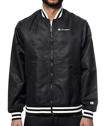 Champion Lifestyle Black Satin Jacket