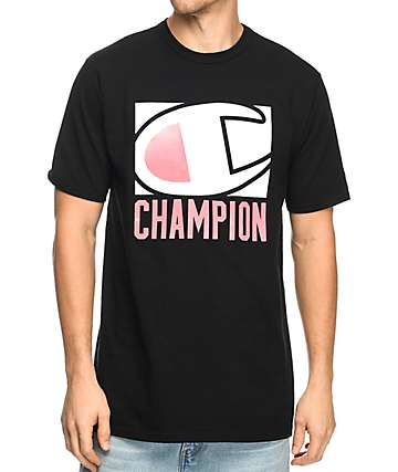 Champion Popped Frame Black T-Shirt