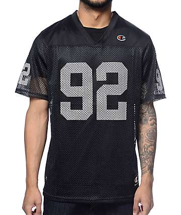 Champion Reflective Black Football Jersey