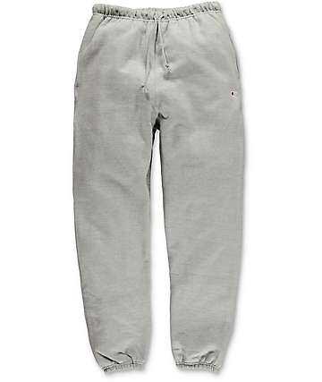 Champion Reverse Weave Banded Bottom Oxford Grey Sweatpants