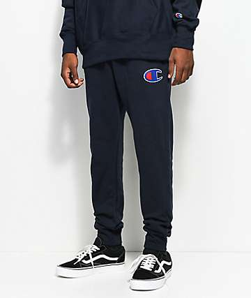 Champion Reverse Weave Big C Logo Navy Jogger Pants