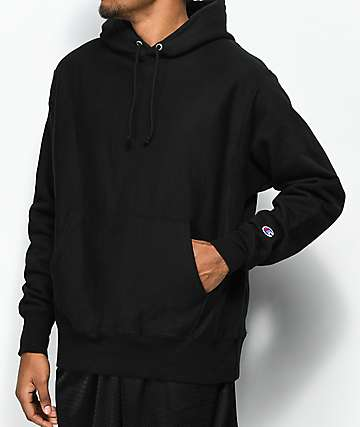 Champion Reverse Weave Black Hoodie