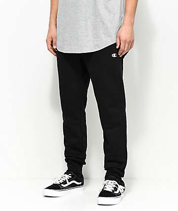 Champion Reverse Weave C Logo Black Jogger Pants