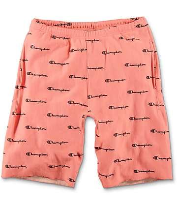 Champion Reverse Weave Pastel Peach Sweat Shorts