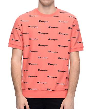 Champion Reverse Weave Peach French Terry Crew T-Shirt