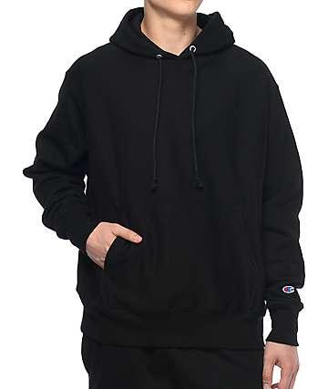 Champion Reverse Weave sudadera negra con capucha