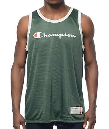 Champion Reversible Green & Navy Mesh Jersey