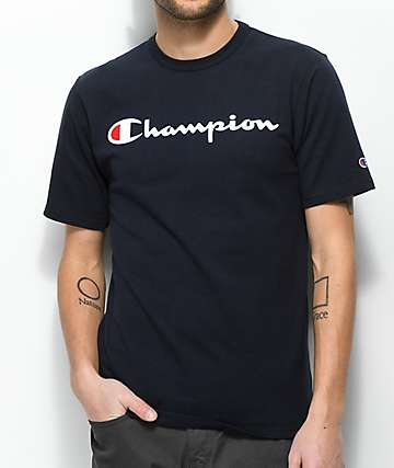 Champion Script Navy T-Shirt