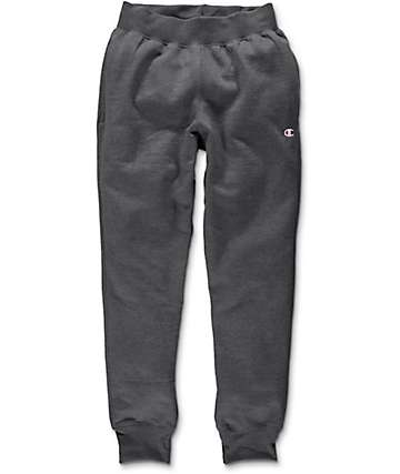 Champion Trim Charcoal Jogger Sweatpants