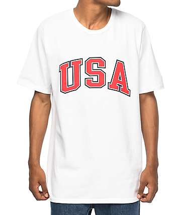 Champion USA Arch White T-Shirt