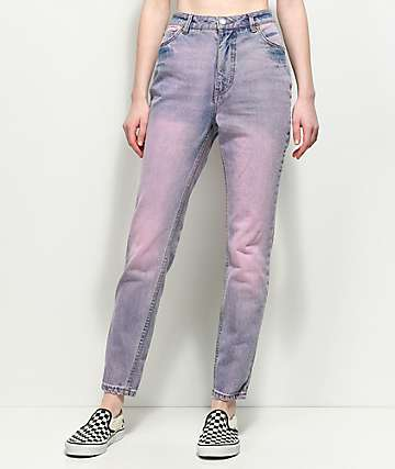 Cheap Monday Donna Light Pink Slim Mom Jeans