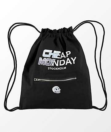 Cheap Monday Rapid bolso negro de gimnasio con cordones