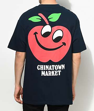 Chinatown Market Apple Navy T-Shirt