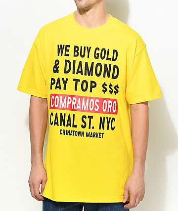 Chinatown Market Canal Street Gold camiseta en color amarillo