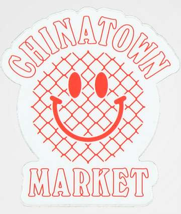 Chinatown Market Red Smiley Sticker