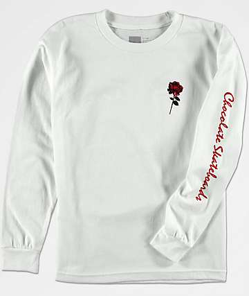 Chocolate Boys Dreamers White Long Sleeve T-Shirt