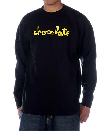 Chocolate Chunk Black Crew Neck Sweatshirt