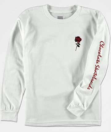 Chocolate Dreamers camiseta blanca de manga larga para niños