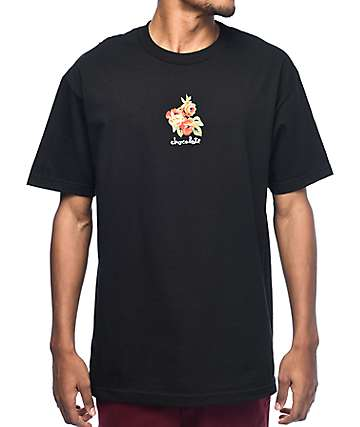Chocolate Floral Chunk Black T-Shirt