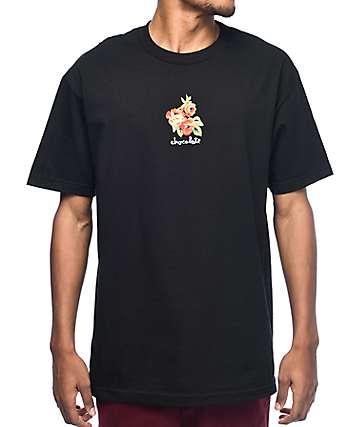 Chocolate Floral Chunk camiseta negra
