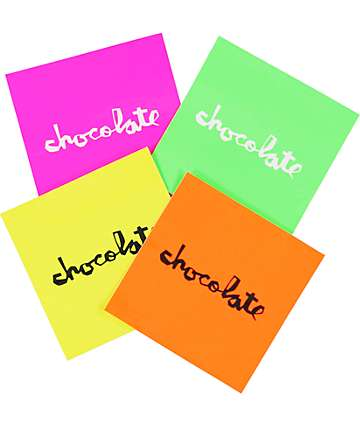Chocolate Florescent Assorted Square Sticker