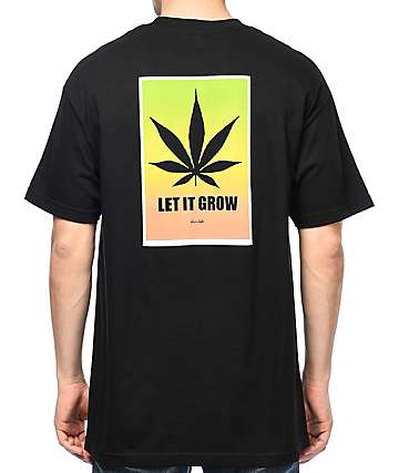 Chocolate Let It Grow Black T-Shirt