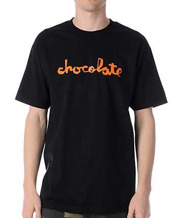 Chocolate Neon Chunk Black T-Shirt