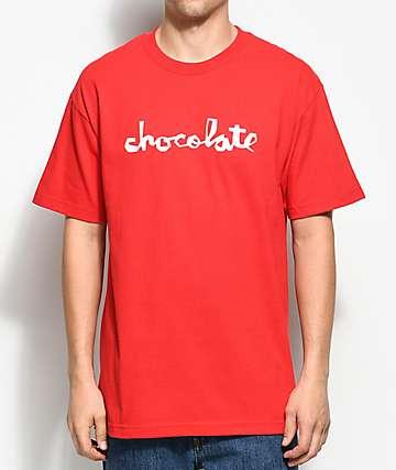 Chocolate Original Chunk camiseta roja
