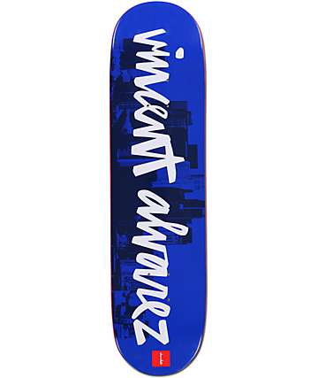 "Chocolate Vincent Alvarez Chunk City 8.25""  Skateboard Deck"