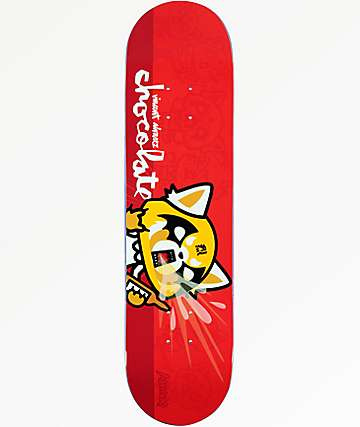 """Chocolate x Sanrio Alvarez Aggretsuko 8.0"""" tabla de skate"""