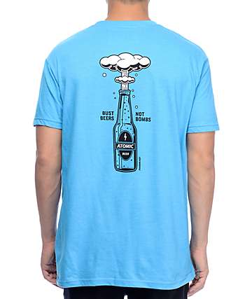 Chomp Beers Not Bombs Blue T-Shirt