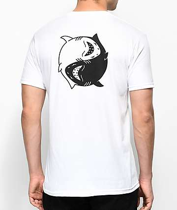 Chomp Fin Fan II camiseta blanca