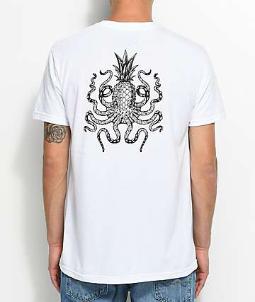 Chomp Octopineapple camiseta blanca