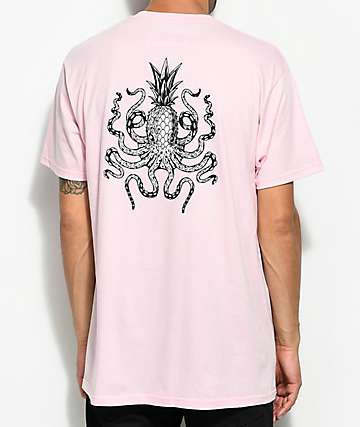 Chomp Octopineapple camiseta rosa