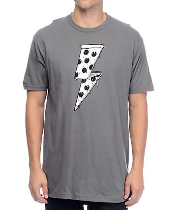 Chomp Pizza Bolt Charcoal T-Shirt