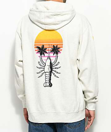 Chomp Prawn Trees Off White Hoodie