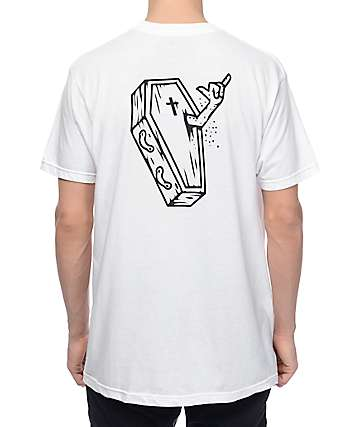 Chomp Shred Til You're Dead White T-Shirt