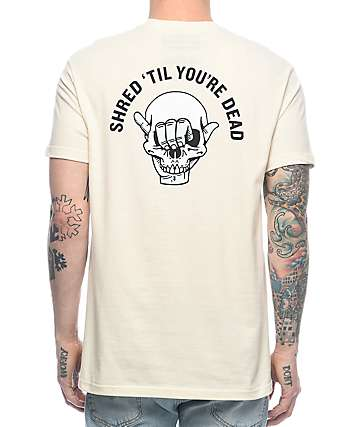 Chomp Shred Til Youre Dead Brown T-Shirt