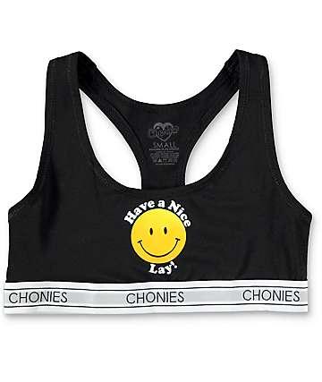 Chonies Have A Nice Lay sujetador deportivo en negro