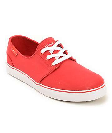 Circa Crip Red Canvas Skate Shoes