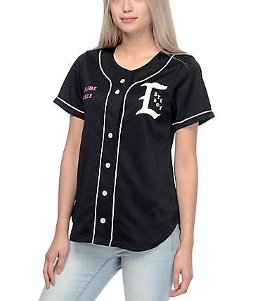 Civil Bye Boy Black Baseball Jersey