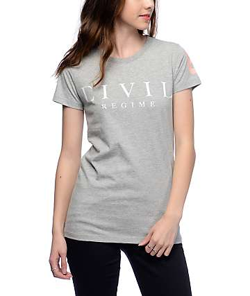 Civil Regime Grey T-Shirt