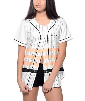 Civil Regime League White Baseball Jersey