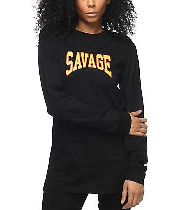 Civil Savage Black Long Sleeve T-Shirt